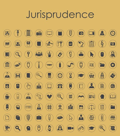 professionalism: Set of jurisprudence simple icons