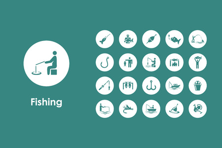 fishing boats: It is a set of fishing simple web icons Illustration