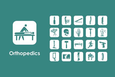 It is a set of orthopedics simple web icons