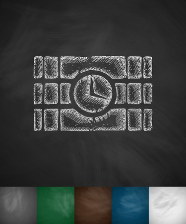 time bomb: time bomb icon. Hand drawn vector illustration. Chalkboard Design