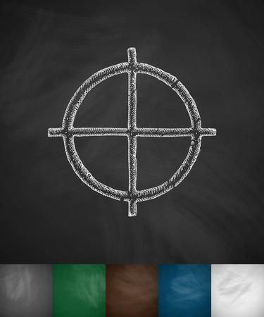 hostages: sight icon. Hand drawn vector illustration. Chalkboard Design