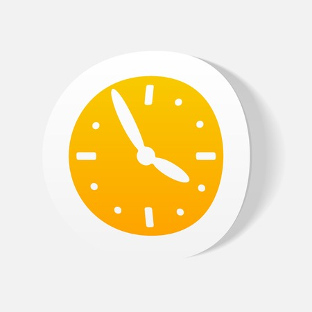 and element: realistic design element: clock Illustration