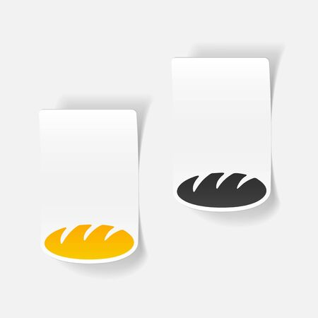 solemn: realistic design element: bread Illustration