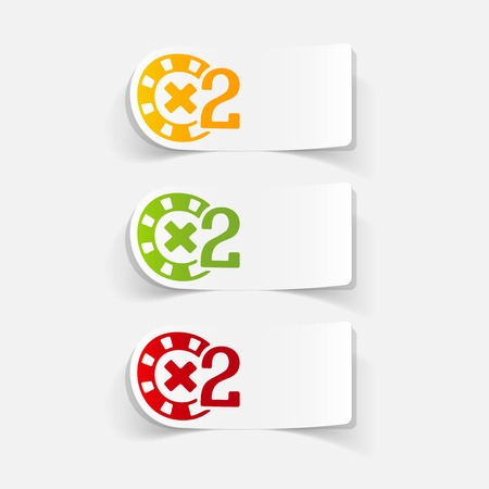 casino chips: realistic design element: casino chips Illustration