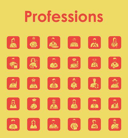 profesiones: Conjunto de iconos simples profesiones