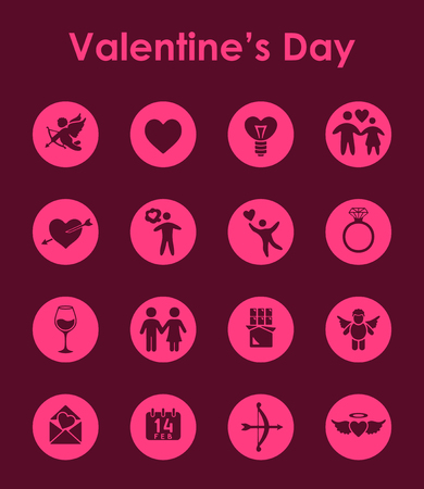 the intimacy: Set of Valentines Day simple icons