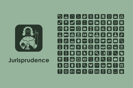 juror: It is a set of jurisprudence simple web icons Illustration