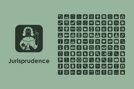 jurisprudencia: Se trata de un conjunto de iconos de la web jurisprudencia sencilla