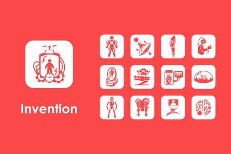 progressive art: It is a set of invention simple web icons