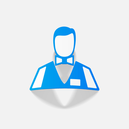 casino dealer: realistic design element: dealer casino