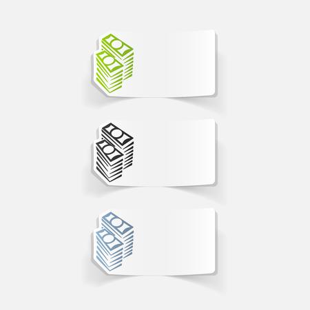 multiply: realistic design element: money