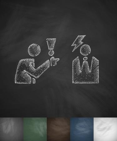 dispute: dispute icon. Hand drawn vector illustration. Chalkboard Design Illustration