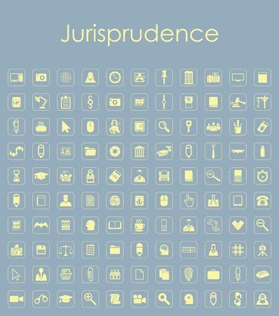 jurisprudencia: Set of jurisprudence simple icons