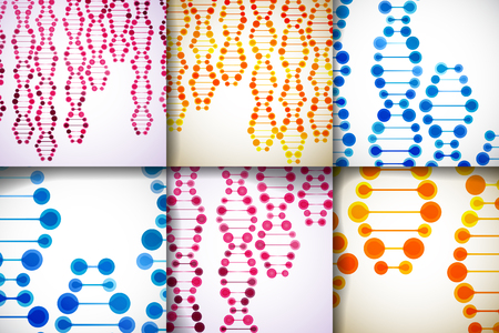 deoxyribose: Set of beautiful abstract structures of the DNA molecule