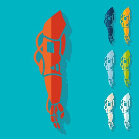 amputee: Flat design: prosthetic Illustration