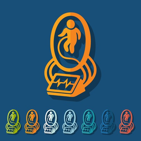 test tube babies: Flat design: artificial uterus Illustration