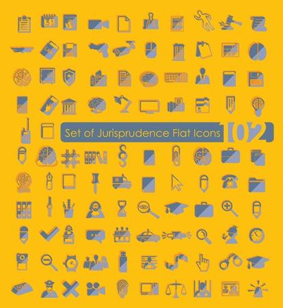 professionalism: Set of jurisprudence icons Illustration