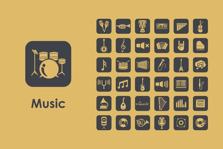 philharmonic: It is a set of music simple web icons Illustration