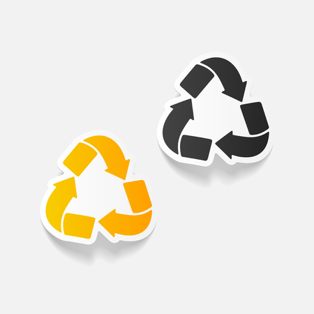 environmental analysis: realistic design element: recycle sign