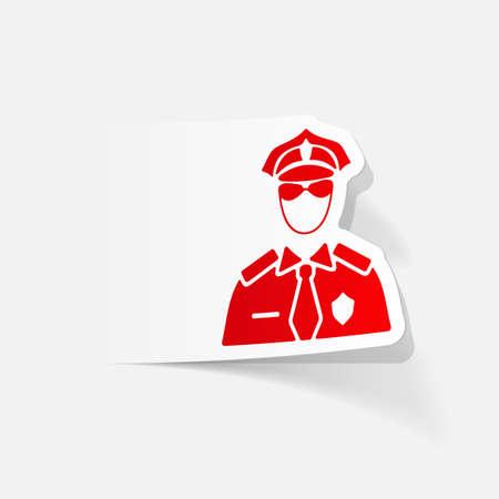 professionalism: realistic design element. police officer Illustration