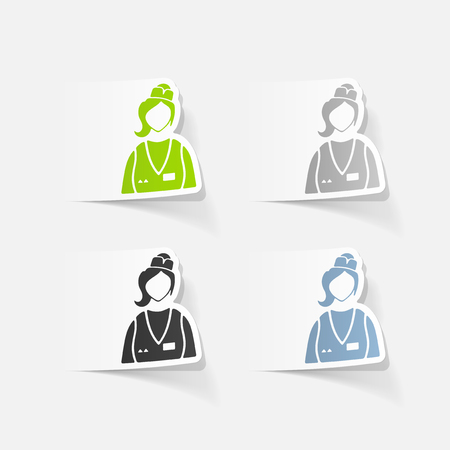 saleswoman: realistic design element. saleswoman Illustration