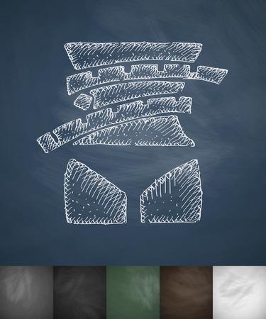 waistline: waistline icon. Hand drawn vector illustration. Chalkboard Design