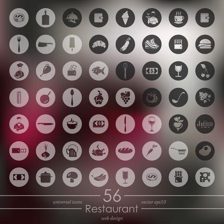 food and beverage: Set of restaurant icons Illustration