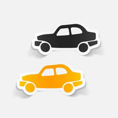 realistico elemento di design: car Vettoriali