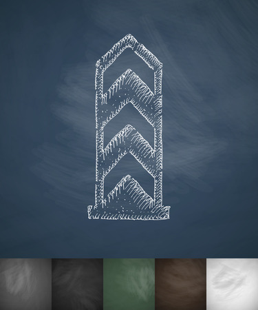 deported: boundary monument icon. Hand drawn vector illustration. Chalkboard Design Illustration