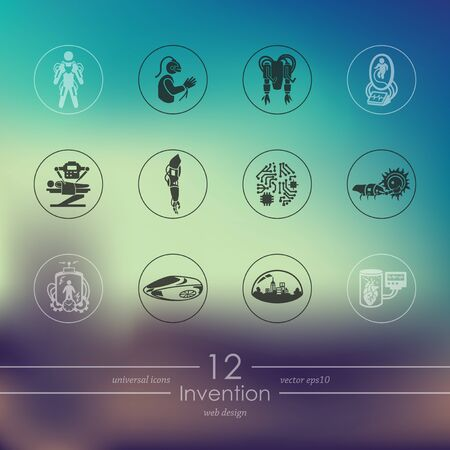 invention: Set of invention icons