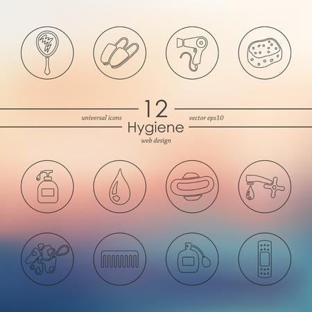 epidemiology: Set of hygiene icons