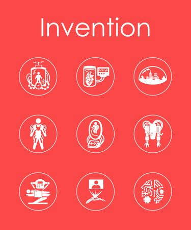 invention: Set of invention simple icons