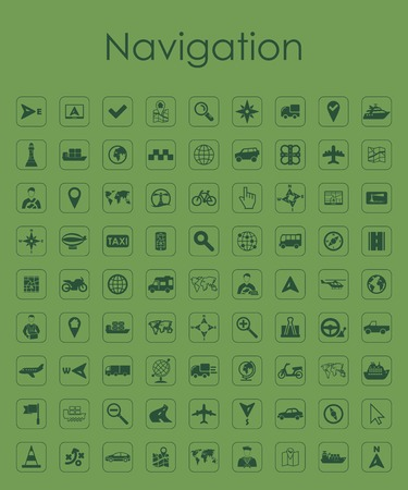 navigation icons: Set of navigation simple icons