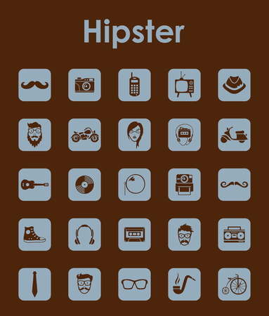 slang: Set of hipster simple icons