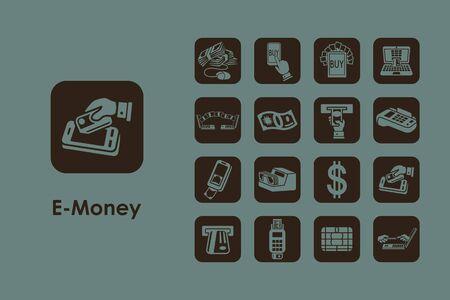 È un insieme di icone web semplici e-money