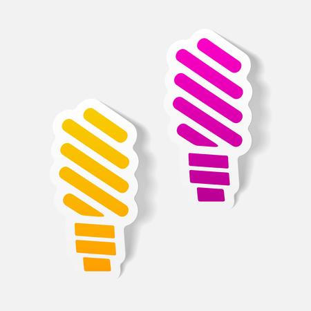 ecological adaptation: realistic design element: fluorescent light bulb Illustration