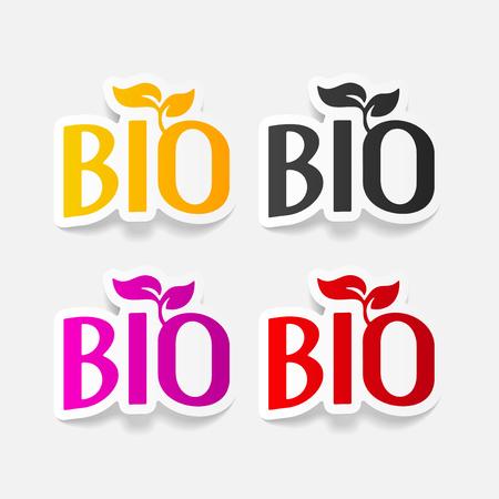 space rubbish: realistic design element: bio sign