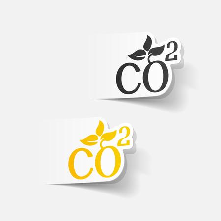 dioxide: realistic design element: co2 sign dioxide