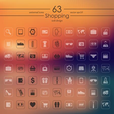 shopping icons: Set of shopping icons Illustration