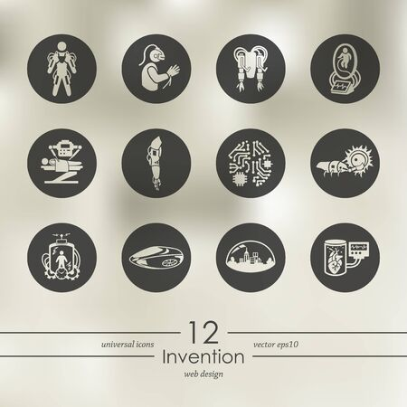 Set van uitvinding pictogrammen