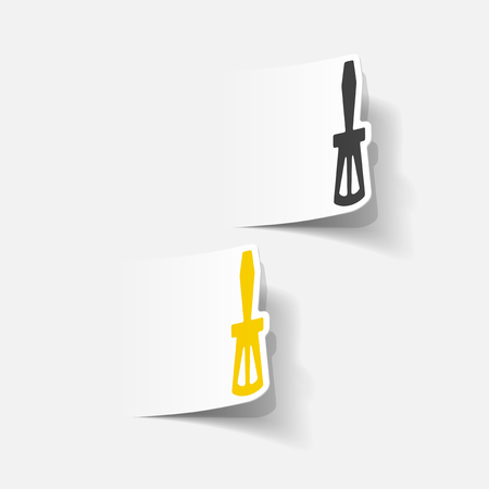 unscrew: realistic design element: screwdriver