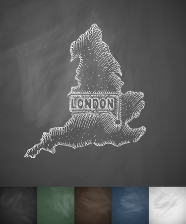 beefeater: England icon. Hand drawn vector illustration. Chalkboard Design