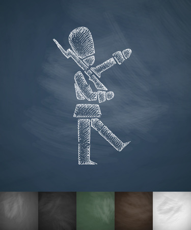 beefeater: beefeater icon. Hand drawn vector illustration. Chalkboard Design