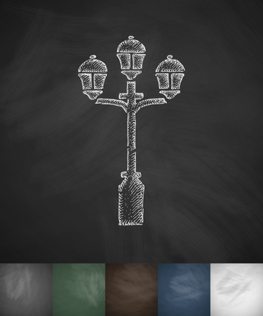 beefeater: lamp icon. Hand drawn vector illustration. Chalkboard Design