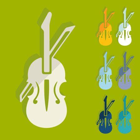 Flache Bauweise: Violine