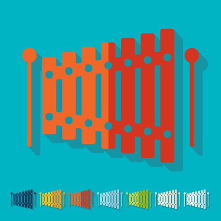 timbre: Flat design: xylophone