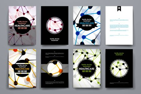 cover art: Set of brochure, poster templates in healthcare style. Beautiful design and layout Illustration