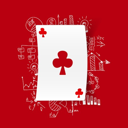 playing card: Drawing business formulas: playing card