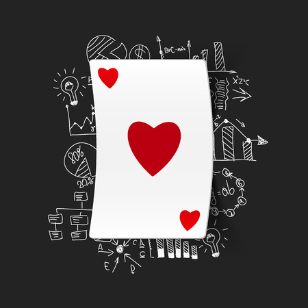 Drawing business formulas: playing card