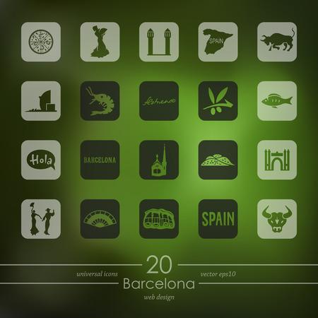 barcelona: Set of Barcelona icons
